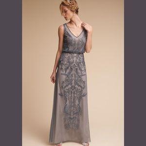 Adrianna Papell Aubrey Dress BHLDN Pewter Gray 6